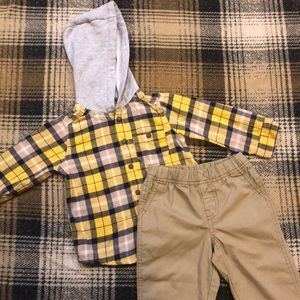 18 Month Button Up Hoodie w/ Matching Kakis
